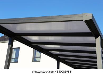 Aluminium carport on residential home