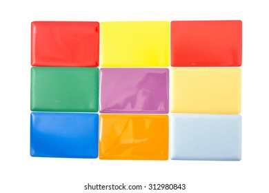 aluminium composite panel colours   chart  on a white background