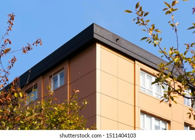 aluminium composite panels to repair , restore , the facade  of  building