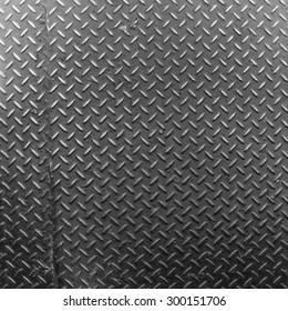 Aluminium dark list with rhombus shapes