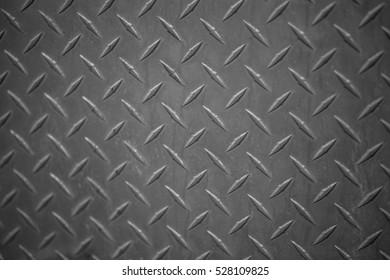 Aluminium dark list with rhombus shapes in Black & White colors
