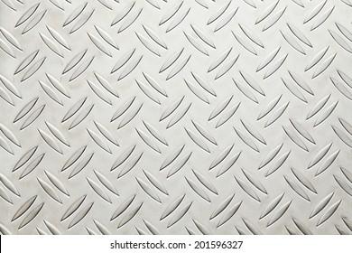 Aluminium list with rhombus shapes