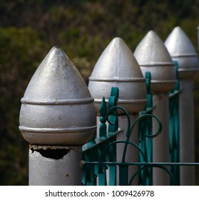 Aluminium made objects protection wall stock photograph
