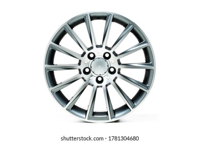 A aluminium mag wheel isolated on a white background