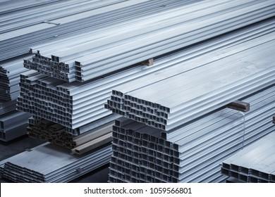 Aluminium profiles for constructions. Aluminum constructions factory
