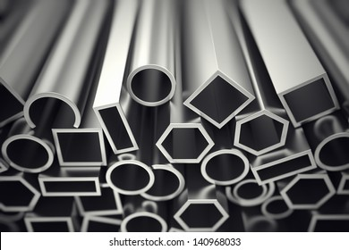 Aluminium profiles in different shapes are designed to meet high demands for performance, quality and precision. They are used in construction and manufacturing.