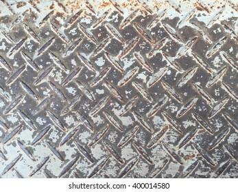Aluminium rustic list with rhombus shapes