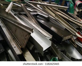 Aluminium scrap prepare to recycle