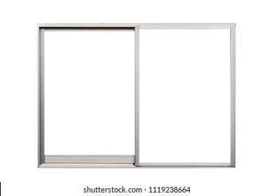 Aluminium window frame isolated on white background