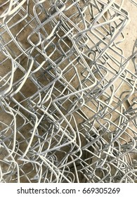 a aluminium wire isolated background, for house construction.