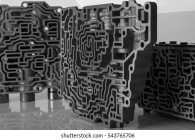Aluminum abstract silver metal background