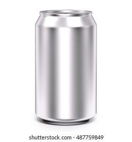 Aluminum can 3d illustration