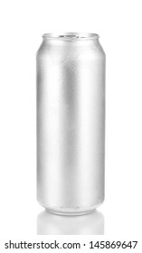Aluminum can isolated on black