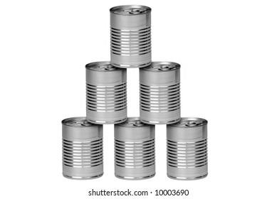 Resultado de imagen de latas en forma de pirámide