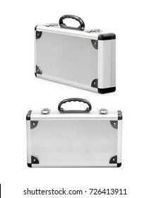 Aluminum case isolated on a white background