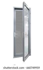 aluminum casement door with stainless steel mesh screen