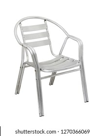 Aluminum chair (with clipping path) isolated on white background