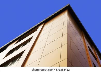 aluminum composite panels to repair , restore , the facade  of  building