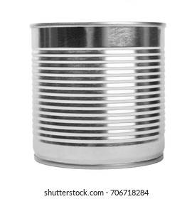 aluminum container can. Isolated on white background