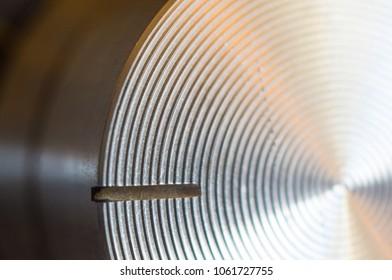 aluminum control knobs retro home audio system