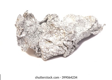 aluminum foil  isolated on white background