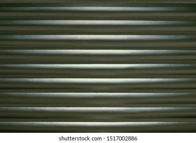 Aluminum foil slats made by pressing foil against a heating grate.