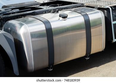 Aluminum fuel tank of truck.