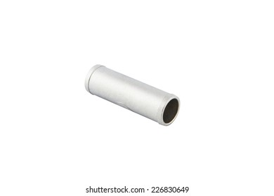 The aluminum parts from the car. On a white background