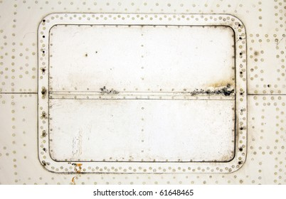 aluminum plate with rivets