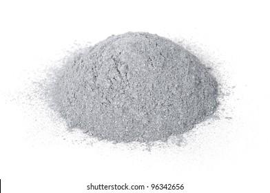 Aluminum Powder Isolated on White Background