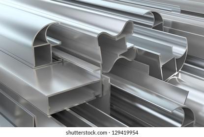 Aluminum profiles.