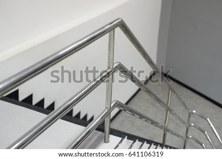 The Aluminum Railing Handle Of Staircase