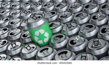 Aluminum recycle, 3D illustration