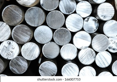Aluminum rods in smelting plant
