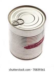 aluminum tin can isolated on a white background