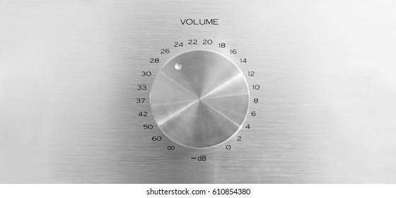 Aluminum volume knob