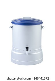 Aluminum water cooler isolated on white background