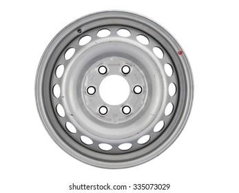 Aluminum wheel rim on the white background