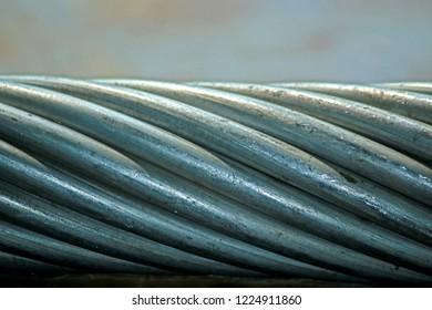 Aluminum wire texture