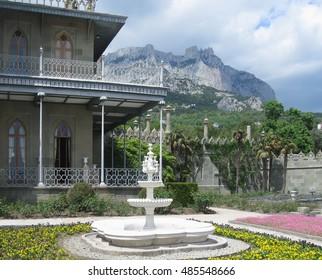 Alupka, Russia - May 10, 2016: views of Vorontsov Palace, Crimea