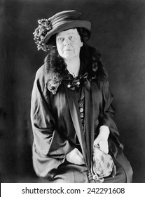 Alva E. Belmont (1853-1933), wealthy socialite, activist for women's suffrage in Britain and the United States. With Alice Paul, founded the National Woman's Party, president from 1917-1933. Ca. 1924.