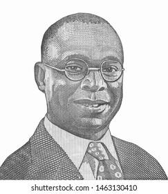 Alvan Ikoku (1900-1971) on 10 Naira 2006 Banknote from Nigeria. Nigerian educator, statesman, activist and politician. African Nigerian money Closeup Collection.
