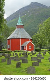 Alvundeid kirke (Alvundeid church), Norway.
