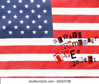 always remember never forget on an American flag - for Veteran's Day
