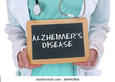 Alzheimers disease Alzheimer Alzheimer's ill illness healthy health doctor with sign