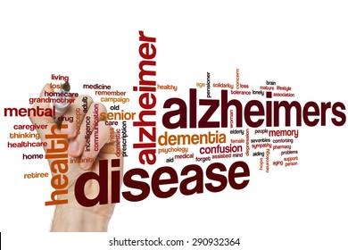 Alzheimers disease word cloud concept