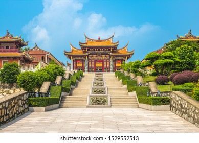 """A-Ma Cultural Village at Macau, China. the translation of the chinese characters is """"Macau Tin Hau Temple"""""""