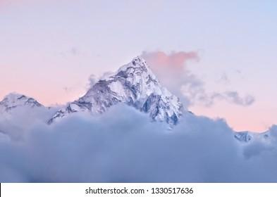 Ama Dablam massif - Everest region, Nepal Himalayas