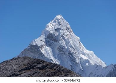 Ama Dablam mountain, Everest region, Nepal
