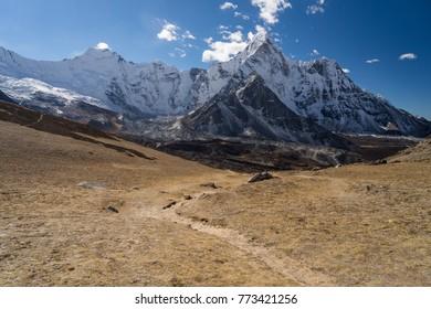 Ama Dablam mountain peak view from Chukung Ri, Everest region, Nepal, Asia